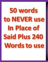 50 Words to NEVER us in Place of Said Plus 240 word to use
