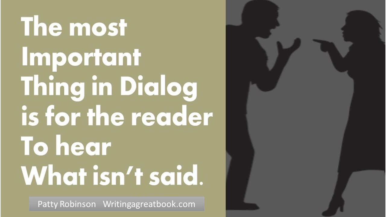 dialoge what not is said.