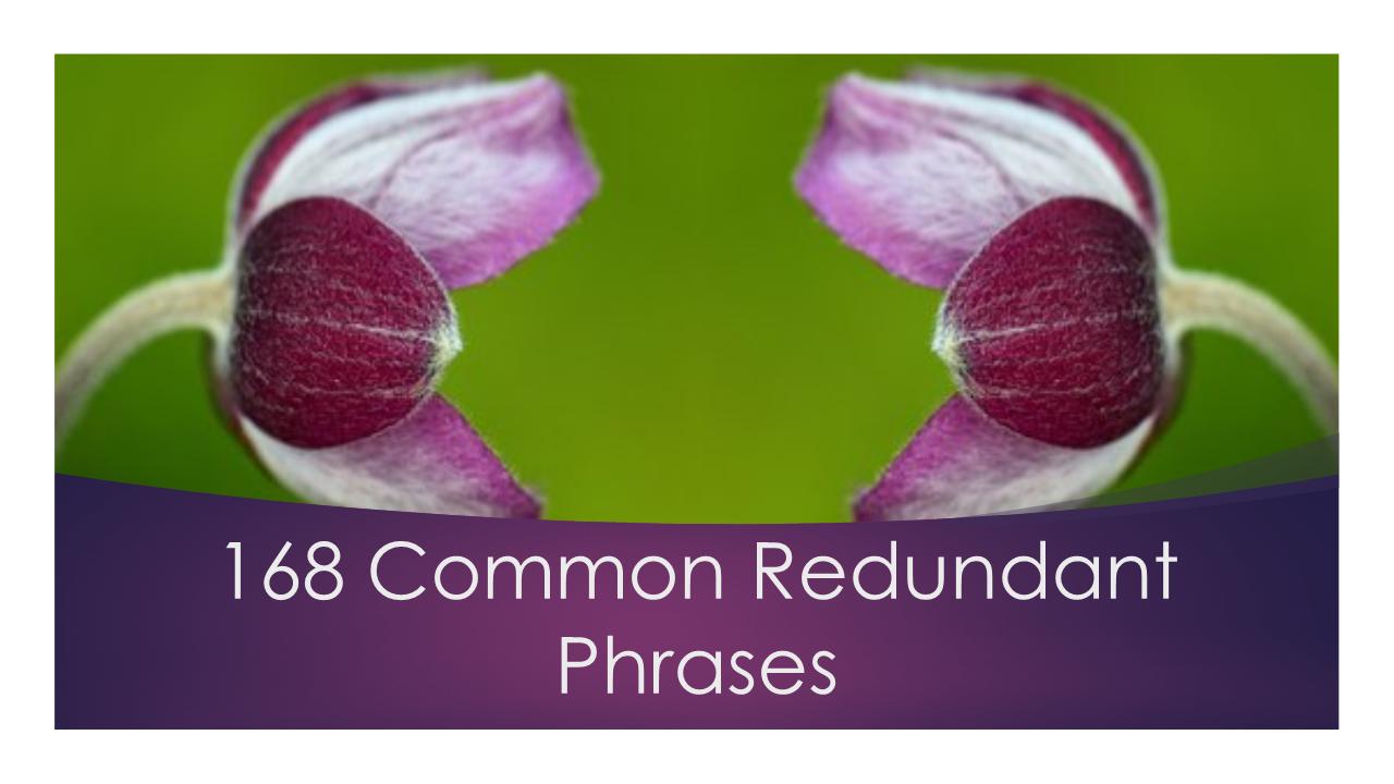 common redundant phrases
